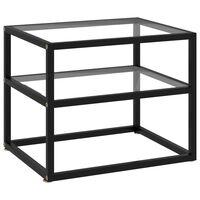 vidaXL Konzolový stolek průhledný 50 x 40 x 40 cm tvrzené sklo