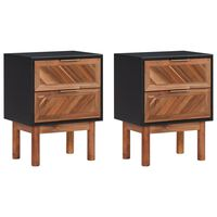 vidaXL Noční stolky 2 ks 40 x 30 x 53 cm masivní akáciové dřevo a MDF