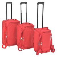 vidaXL 3dílná sada cestovních kufrů, červená