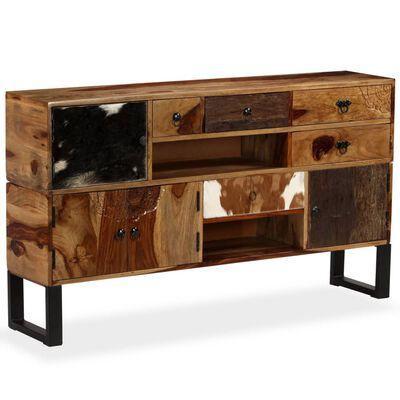 vidaXL Příborník z masivního sheeshamového dřeva 140 x 30 x 80 cm