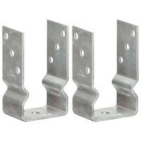 vidaXL Plotové kotvy 2 ks stříbrné 8 x 6 x 15 cm pozinkovaná ocel