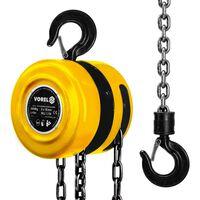 VOREL Řetězový zvedák /kladkostroj 2000 kg ocelový žlutý 80752