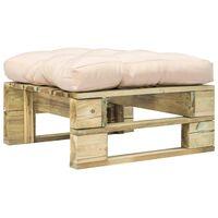 vidaXL Zahradní taburet z palet s pískovou poduškou dřevo