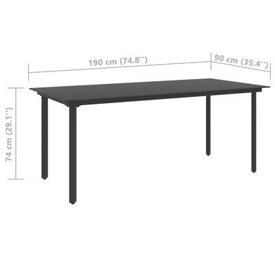 vidaXL 7 Piece Garden Dining Set PVC Rattan Black (313113+313111)