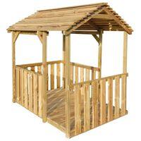 vidaXL Zahradní domeček na hraní 122,5 x 160 x 163 cm borové dřevo