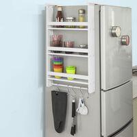 SoBuy FRG150-W Závěsný regál na lednici s 5 háčky, regál na dveře