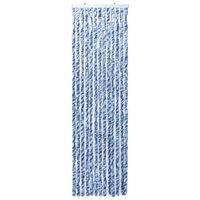 vidaXL Závěs proti hmyzu modrobílý 90 x 200 cm Chenille