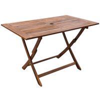 vidaXL Zahradní stůl 120 x 70 x 75 cm masivní akáciové dřevo