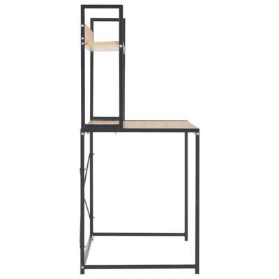 vidaXL PC stůl černý a dubový odstín 120 x 60 x 138 cm