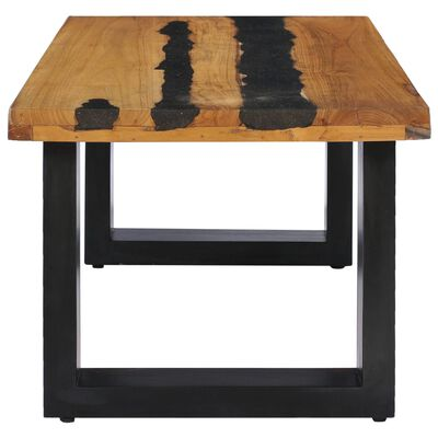 vidaXL Konferenční stolek 100 x 50 x 40 cm masivní teak a lávový kámen