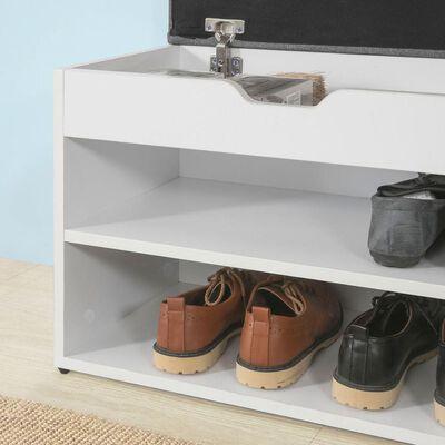 SoBuy FSR25-HG Lavice na nazouvání bot se sedací plochou, lavička na