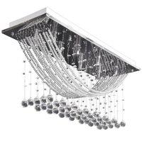 Bílé stropní svítidlo s křišťálovými ověsky, pro 8 žárovek G9, 29 cm