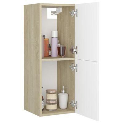 vidaXL Koupelnová skříňka bílá dub sonoma 30 x 30 x 80 cm dřevotříska