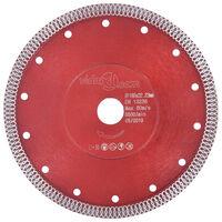 vidaXL Diamantový řezací kotouč s otvory ocel 180 mm