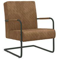 vidaXL Konzolová židle hnědá samet