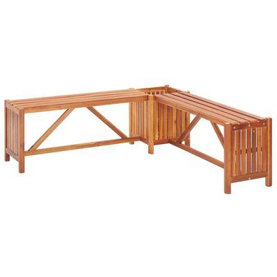 vidaXL Zahradní rohová lavice s truhlíkem 117x117x40 cm masivní akácie