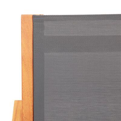 vidaXL Zahradní křeslo šedé masivní eukalyptus a textilen