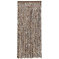 vidaXL Insect Curtain Brown and White 56x185 cm Chenille