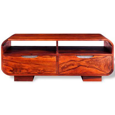 vidaXL Konferenční stolek z masivního sheeshamu 90x40x35 cm