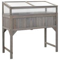 vidaXL Vyvýšený záhon s pařeništěm 120 x 54 x 120 cm jedlové dřevo