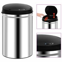 vidaXL Odpadkový koš s automatickým senzorem 30 l nerezová ocel
