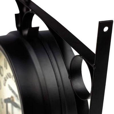 vidaXL Oboustranné nástěnné hodiny 20 cm