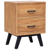 vidaXL Noční stolek 40 x 35 x 55 cm masivní teak