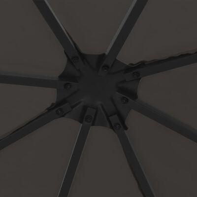 vidaXL Altán 3 x 3 m antracitový