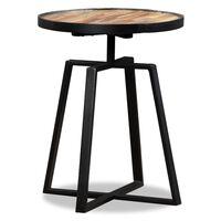 vidaXL Kulatý odkládací stolek z masivního recyklovaného teaku