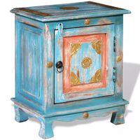 vidaXL Noční stolek masivní mangovníkové dřevo modrý