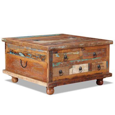 vidaXL Konferenční stolek recyklované dřevo 70 x 70 x 38 cm