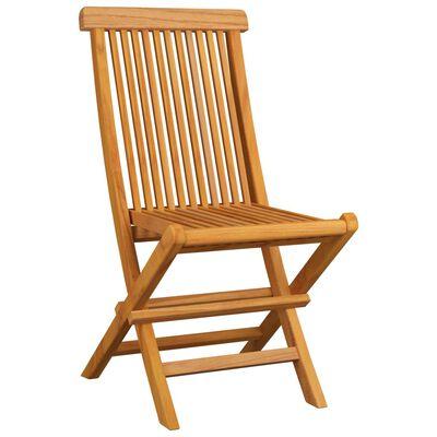 vidaXL Zahradní židle s antracitovými poduškami 4 ks masivní teak, Antracitová