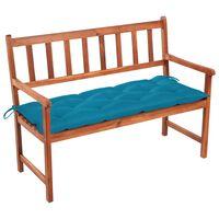 vidaXL Zahradní lavice s poduškou 120 cm masivní akáciové dřevo