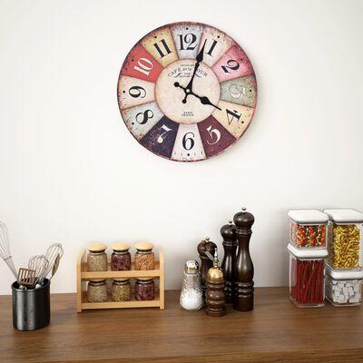 vidaXL Vintage nástěnné hodiny 30 cm barevné
