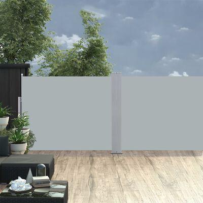 vidaXL Zatahovací boční markýza / zástěna antracitová 140 x 1000 cm