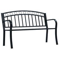 vidaXL Zahradní lavice 125 cm černá ocel