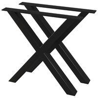 vidaXL Nohy k jídelnímu stolu ve tvaru X 2 ks 80 x 72 cm