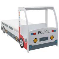 vidaXL Dětská postel policejní auto s matrací 90 x 200 cm 7 zón H2 H3