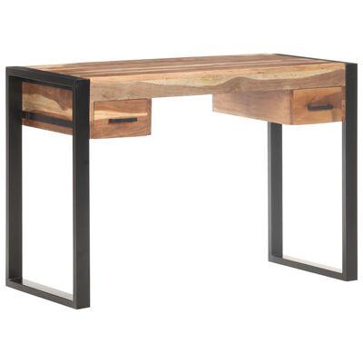 vidaXL Psací stůl 110x50x76 cm masivní dřevo s sheeshamovým povrchem