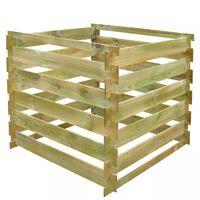 vidaXL Laťkový kompostér 0,54 m³ čtvercový dřevo