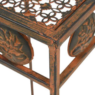 vidaXL Stojan na květiny sada 3 kusů ve vintage stylu kovové rezavé