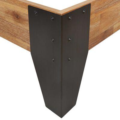 vidaXL Rám postele masivní akáciové dřevo broušený povrch 200 x 200 cm