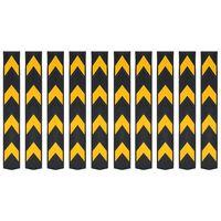 vidaXL Reflexní ochranné profily na rohy 10 ks gumové 80 cm
