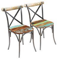 vidaXL Jídelní židle 2 ks masivní recyklované dřevo