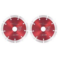 vidaXL Diamantové řezací kotouče 2 ks ocel 125 mm