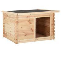 vidaXL Psí bouda 80 x 80 x 100 cm masivní borové dřevo