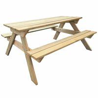 vidaXL Piknikový stůl 150 x 135 x 71,5 cm dřevo