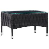 vidaXL Konferenční stolek černý 60 x 40 x 36 cm polyratan
