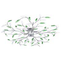 vidaXL Stropní svítidlo s akrylovými lístky pro 5 žárovek E14 zelené