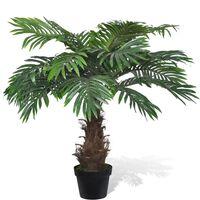 vidaXL Umělá cykasová palma s květináčem 80 cm zelená